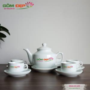 Bộ ấm trà bát tràng dáng Hong Kong
