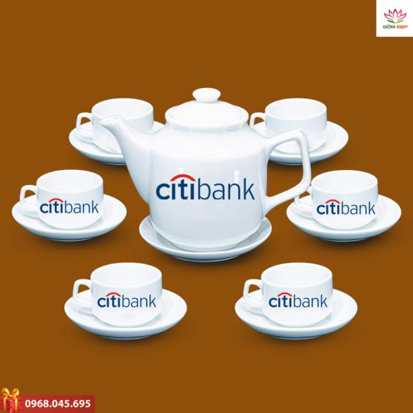 Ấm trà quà tặng in logo Citibank
