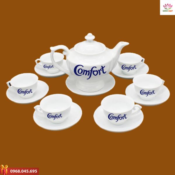 Ấm trà quà tặng in logo Comfort