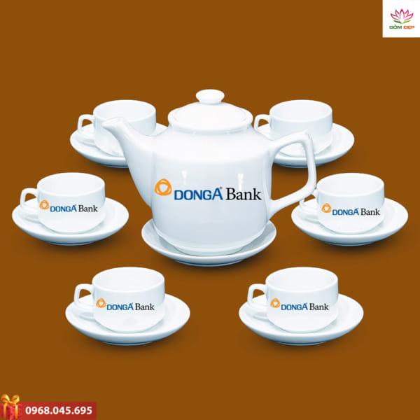 Ấm trà quà tặng in logo Dong A Bank