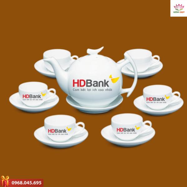 Ấm trà quà tặng HD bank
