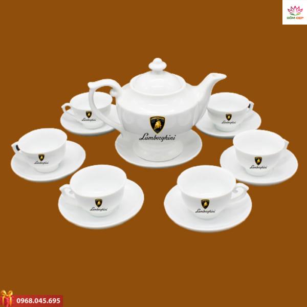 Ấm trà quà tặng in logo Lamboghini