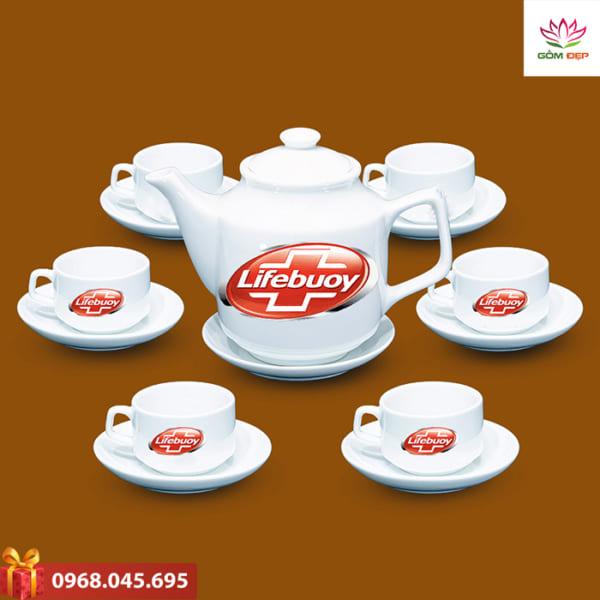 Ấm trà quà tặng in logo Life Bouy