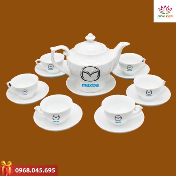 Ấm trà quà tặng in logo Mazda