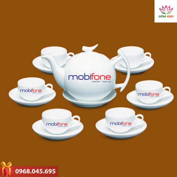 Ấm trà quà tặng Mobifone