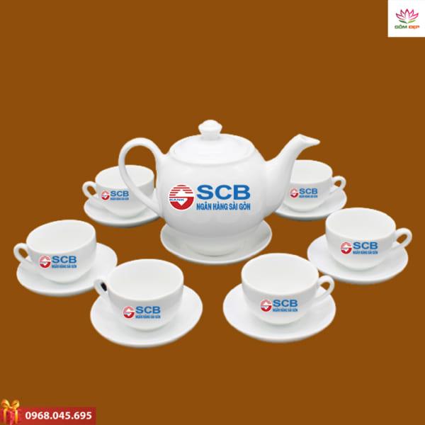 Ấm trà quà tặng SCB