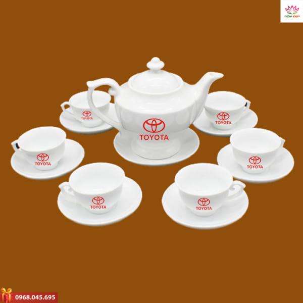 Ấm trà quà tặng in logo Toyota