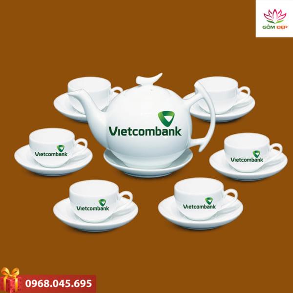 Ấm trà quà tặng Vietcombank