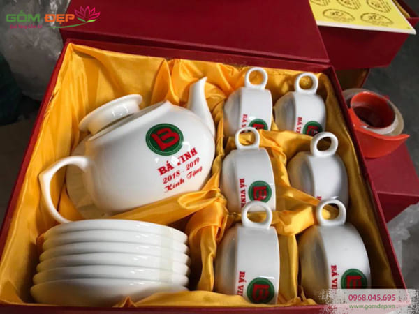 Bộ ấm trà đẹp Bát Tràng