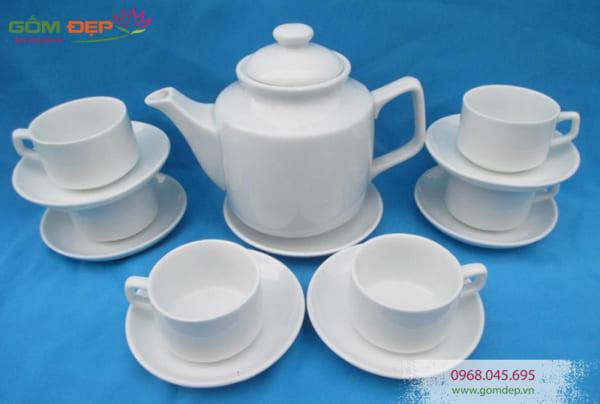 Bộ ấm trà in chữ Bát Tràng