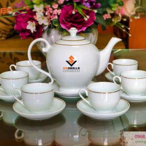 Bộ ấm trà in chữ