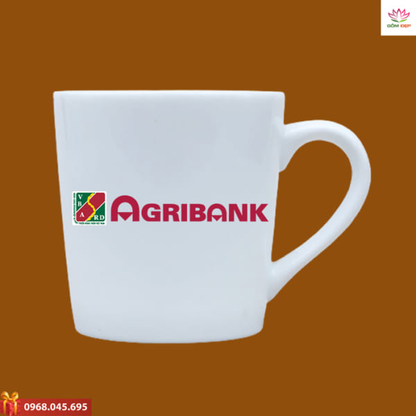 Ly sứ in logo Agribank