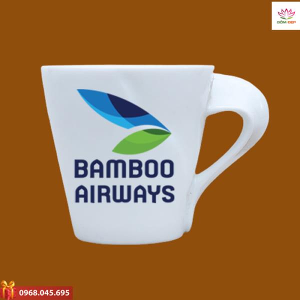 Ly sứ quà tặng in logo Bamboo Airway