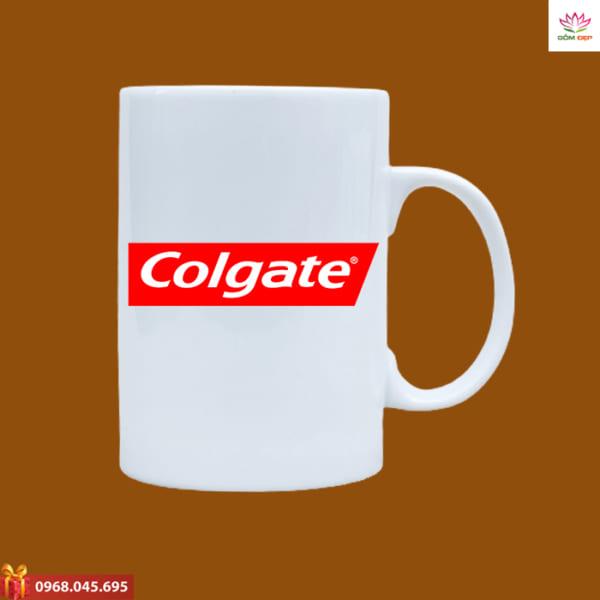 Ly sứ quà tặng in logo Colgate