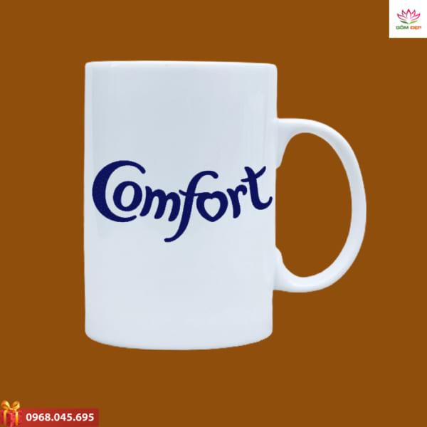 Ly sứ quà tặng in logo Comfort