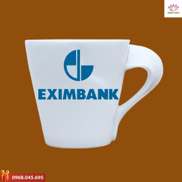 Ly sứ quà tặng in logo Eximbank