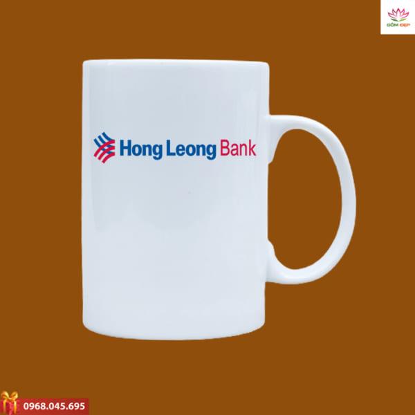 Ly sứ quà tặng in logo Hong Leong Bank