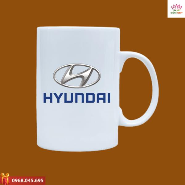 Ly sứ quà tặng in logo Hyun Dai