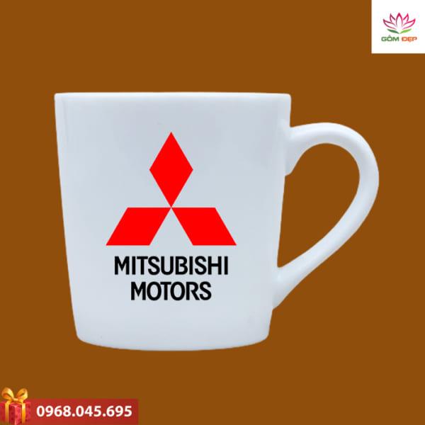 Ly sứ in logo Mitsubishi
