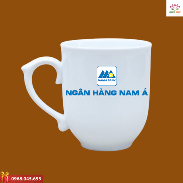 Ly sứ in logo Nam A Bank