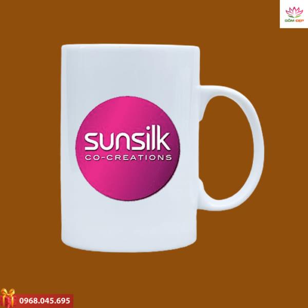 Ly sứ quà tặng in logo Sunsilk