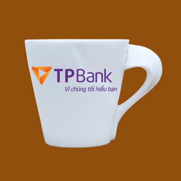Ly sứ quà tặng in logo TP Bank