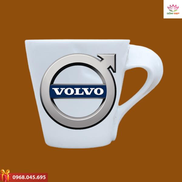 Ly sứ quà tặng in logo Volvo