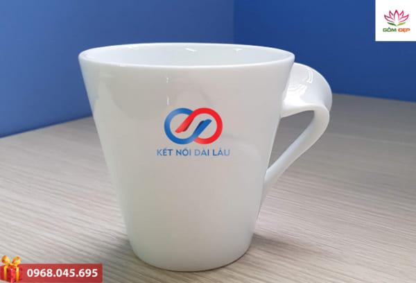 Xưởng sản xuất cốc sứ in logo giá rẻ Hà Nội