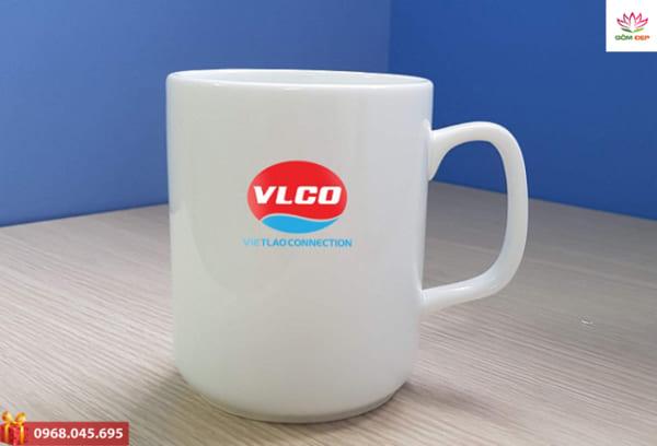 Ly sứ trụ vuông in logo quảng cáo