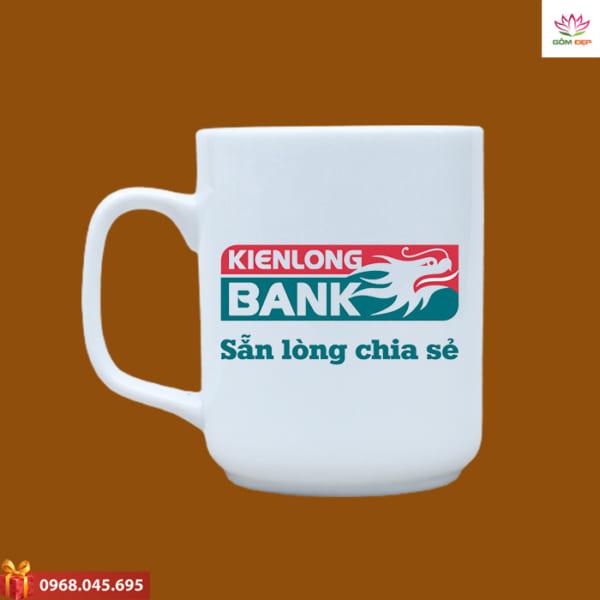Ly sứ quà tặng in logo Kien Long Bank