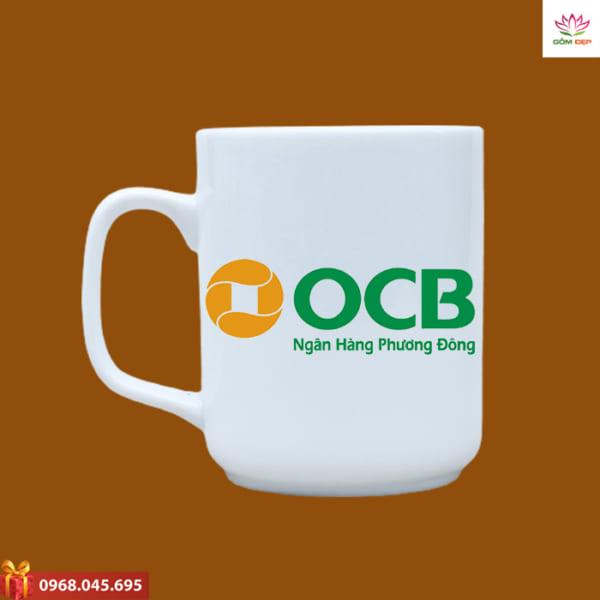 Ly sứ quà tặng in logo OCB
