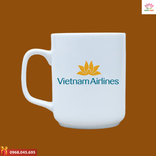 Ly sứ quà tặng in logo Vietnam Airline