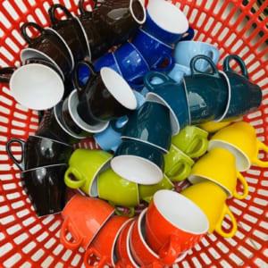 Tách cafe men màu